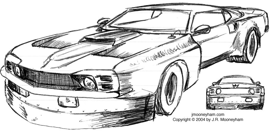 the shadowfast super car project concept sketches part one 1969 ford mustang mach 1 supercar